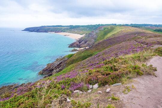 Beach and cape of Erquy, Bretagne, France