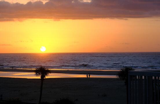 Sunrise Over Beach in the Tropics