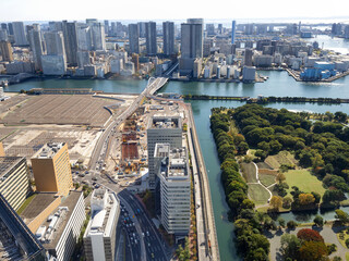 Fototapete - 東京都 移転した旧築地市場の跡地