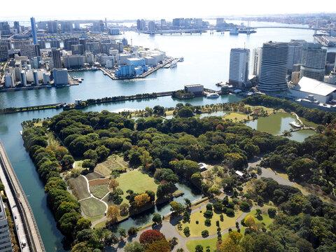 東京都 浜離宮恩賜庭園と東京港