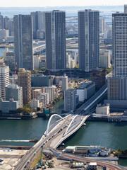 Fototapete - 東京都 隅田川と築地大橋
