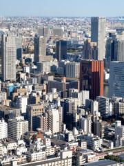 Fototapete - 東京都 隅田川と築地の街並み