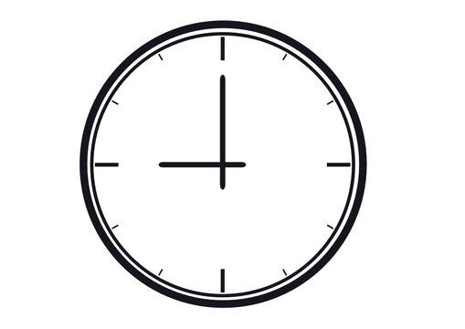 Graphic Elements Analog Clock Vector Illustration