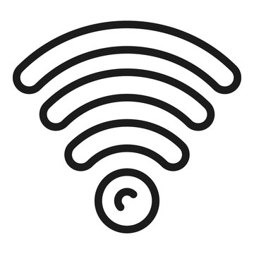 Wifi hub icon. Outline wifi hub vector icon for web design isolated on white background