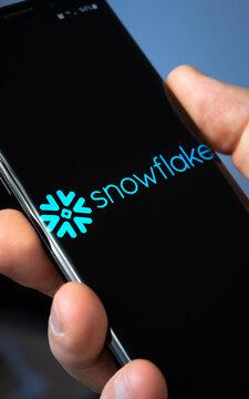 Snowflake incorporated. LONDON, UK - November 22, 2020