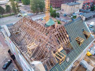 Obraz Roof renovation - fototapety do salonu