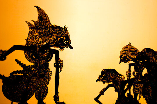 Wayang kulit or Shadow puppets typical of Java, Indonesia