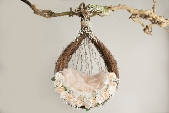 props for photographing newborns, a hanging ring on a branch