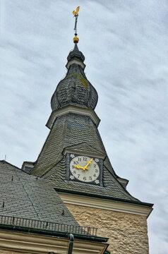 Alter Kirchturm in Velbert Neviges