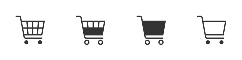 Shopping cart icon concept. Vector shopping cart Icon. Shopping cart illustration for web, mobile apps. Shopping cart trolley icon. Vector illustration