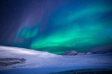 photo nature, mountain, night, photography, adventure, atmosphere, travel, ice, arctic, tourism, trip, aurora borealis, aurora borealis, stars, painting, snow landscape, ice adventures, aurora boreal
