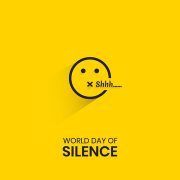World Silence Day emoji Vector Illustration