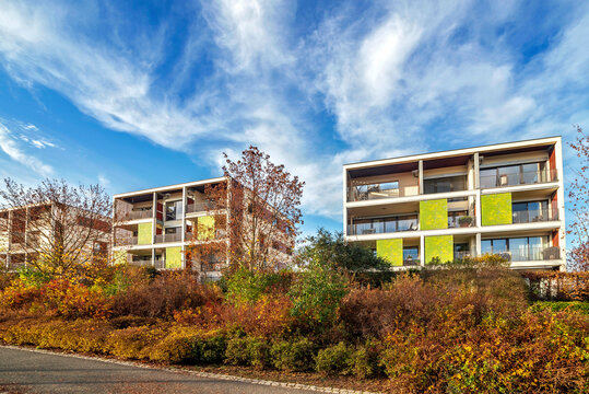 Moderne Architektur im Frankfurter Stadtteil Riedberg