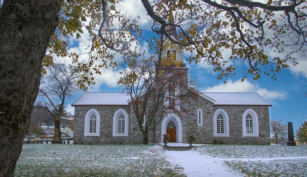 Brønnøysund church in winter