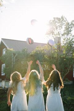 Women celebrating graduation, Sweden