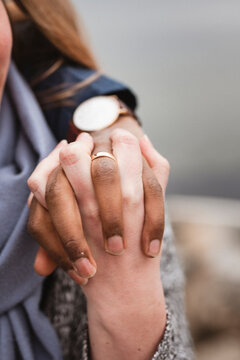 Couple holding hands, Sweden