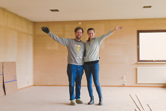 Couple renovating their new home, Sweden