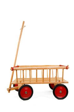 Leiterwagen aus Holz als Kinderspielzeug