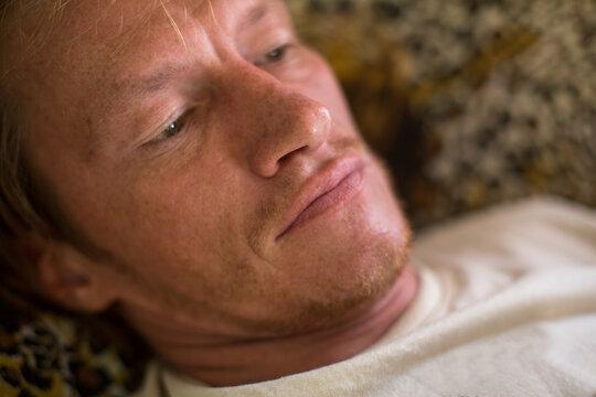 Close-up portrait of a handsome man.