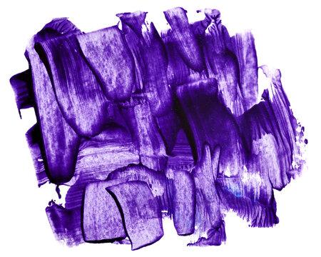 Purple paint brush strokes isolated