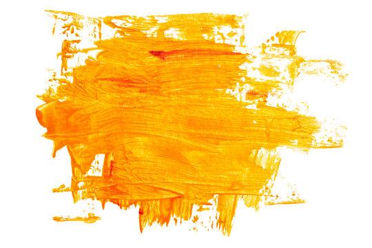 Expressive orange brush strokes