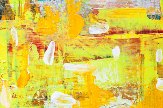 Abstract background with yellow and white brush strokes
