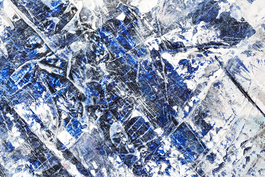 Ice - Expressive blue abstract background.