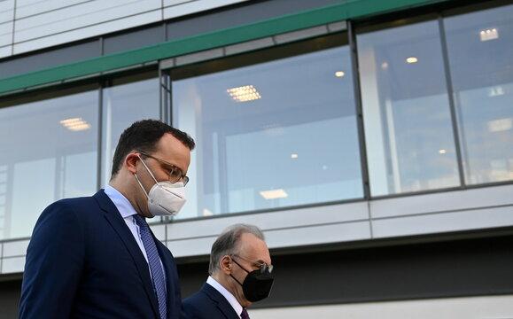 German Health Minister Spahn visits vaccine maker IDT Biologika Dessau