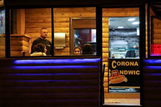 Coronavirus-branded restaurant turns heads in the occupied West bank