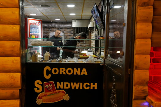 Palestinian opens corona brand restaurant to fight unemployment