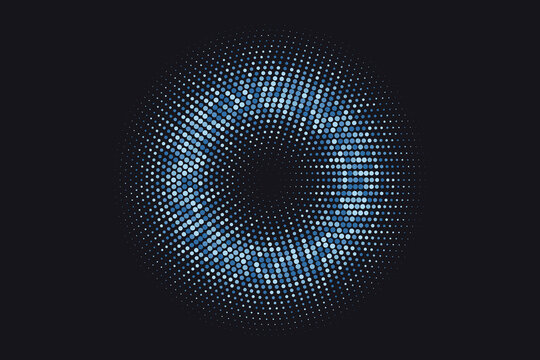 Dots, circle. halftone. Vector design element, template.