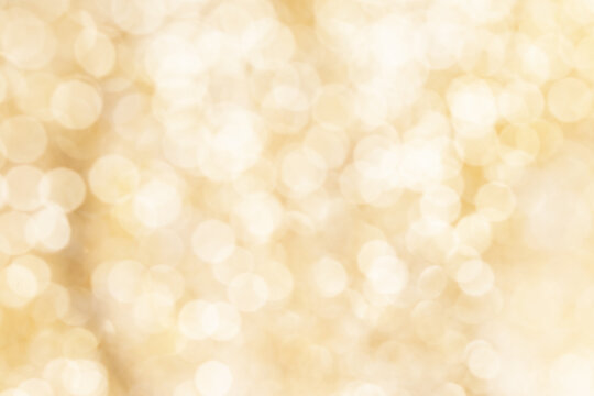 Gold Festive Christmas lights background.