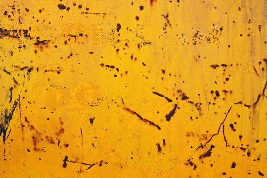 image of rustic yellow metal background