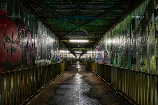 Fußgängerbrücke in Wuppertal Steinbeck