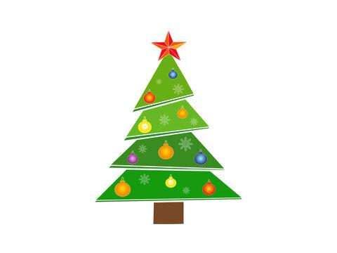 Icon Christmas tree. New Year. Vector illustration.