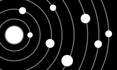 Fototapeta Solar system and orbit around the sun flat vector. obraz
