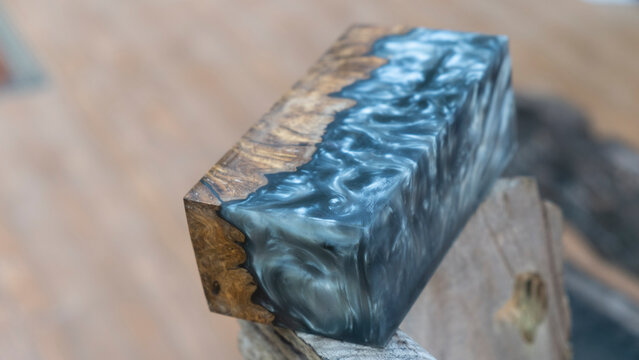 Casting Epoxy Resin Wood Abstract Background Texture