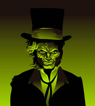 doctor jekyll and mister hyde monster transformation with green potion