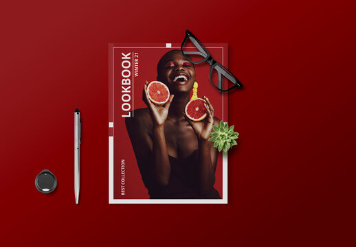Lookbook Layout with Red Accents
