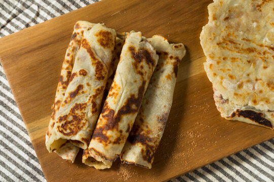Homemade Norwegian Potato Lefse Flatbread