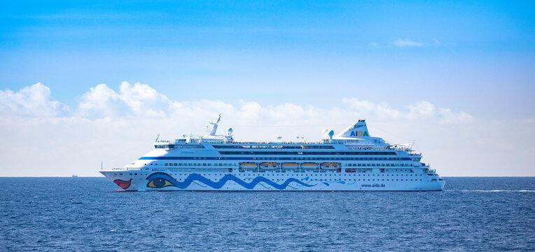 AIDAaura is the third cruise ship operated by the German cruise line AIDA Cruises. AIDAaura was built in 2003 by the German shipyard Aker MTW in Wismar.
