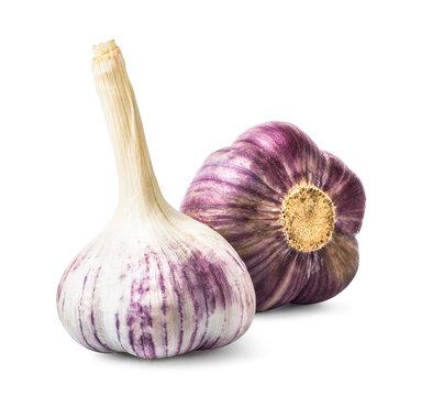 Two garlic heads