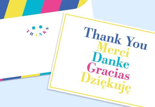 Cheerful Gratitude Card Layout
