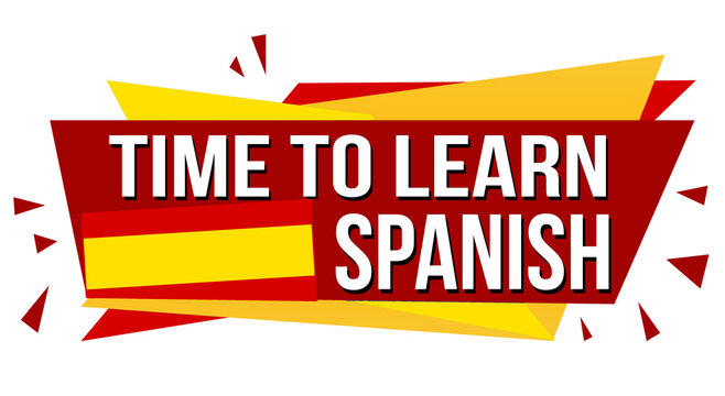 Time to learn spanish banner design