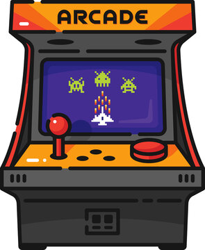 Arcade Video Game Filled Outline Icon