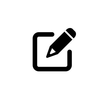 Edit text icon. Pencil icon. Sign up icon. Pen or ballpoint with square box. Tools for writing and drawing