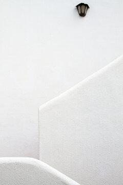 White Stucco Staircase
