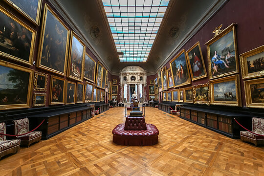 Chateau de Chantilly, interiors and details, Oise, France