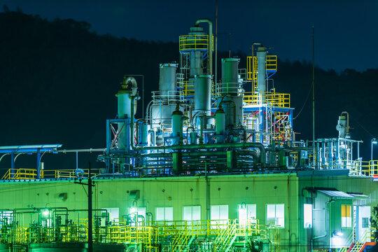 山口県彦島の工場夜景