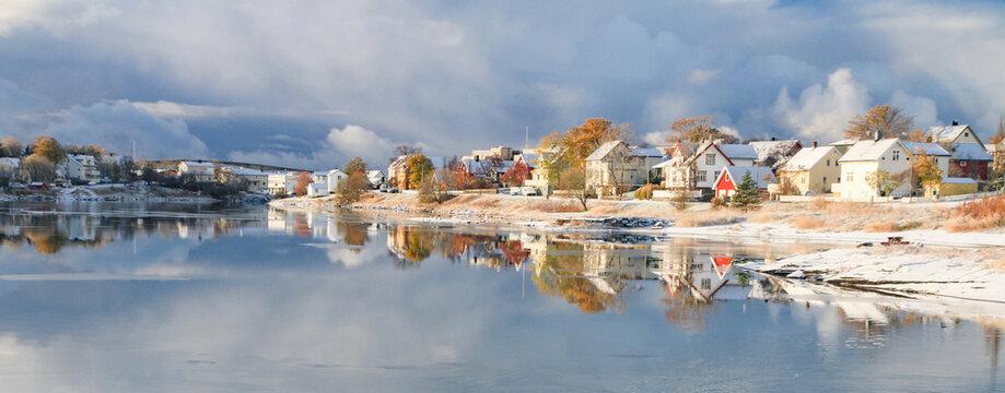 Panorama from frokenosen in Bronnoysund, Norway